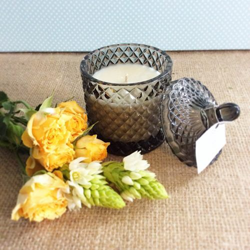 Bear and Finn Ebony and Peach Scented Candle - A Touch of Class Florist