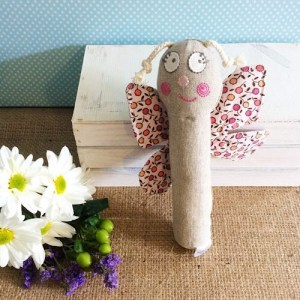 Butterfly Baby Rattle - Nana Huchy Soft Toy - A Touch of Class Florist