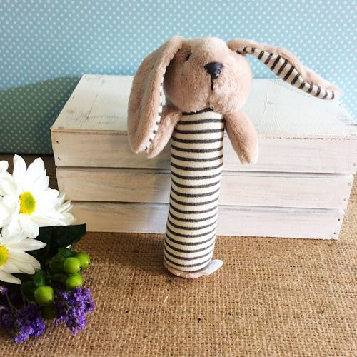 Baby Bunny Rattle in Grey - Nana Huchy - A Touch of Class Florist