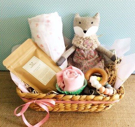 Baby Bliss Hamper filled with lovely things for a newborn babe - A Touch of Class Florist