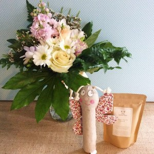 Baby Love Hamper with Butterfly Rattle - A Touch of Class Florist