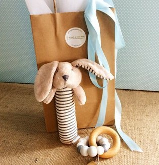 Baby Delight Hamper with Bunny Rattle - A Touch of Class Florist