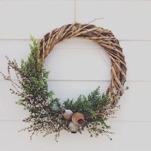 Dried Wildflower Festive Half Wreath - A Touch of Class Florist