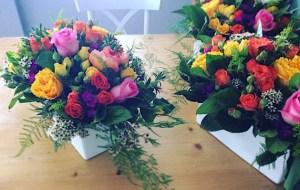 Elegant Garden Style Table Arrangements - A Touch of Class Florist