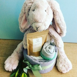 Bunny Love Nappy Cake - A Touch of Class Florist