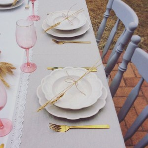 Elegant Rustic Place Settings - A Touch of Class Florist