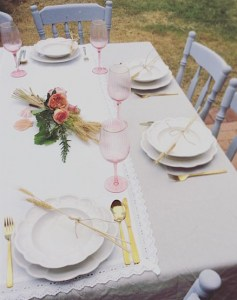 Cute Outdoor Luncheon Table - A Touch of Class Florist