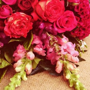 Florist Choice Hot Pop Bouquet in the best pink and red blooms of the day - A Touch of Class Florist