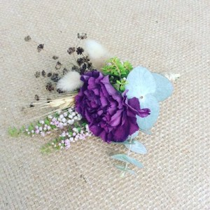 Deluxe Buttonhole, uses a variety of textures to create a more compex buttonhole - A Touch of Class Florist
