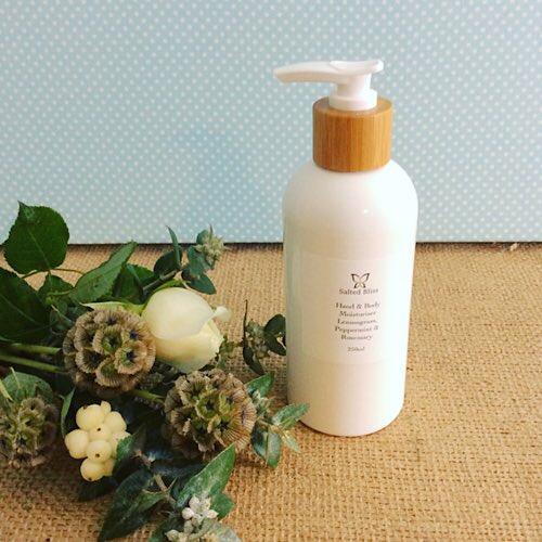 Salted Bliss Hand Moisturiser in Lemongrass, Peppermint and Rosemary