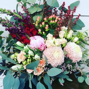 You're The One Hand-tied Bouquet is a striking and voluptuous bouquet full of romantic blooms - A Touch of Class florist Perth