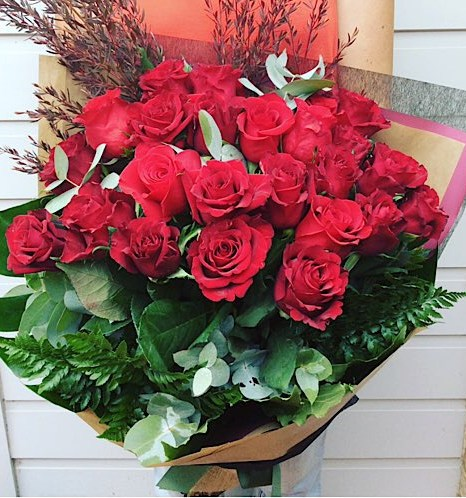 For My Heart 24 Red Rose Bouquet - A Touch of Class Florist Perth