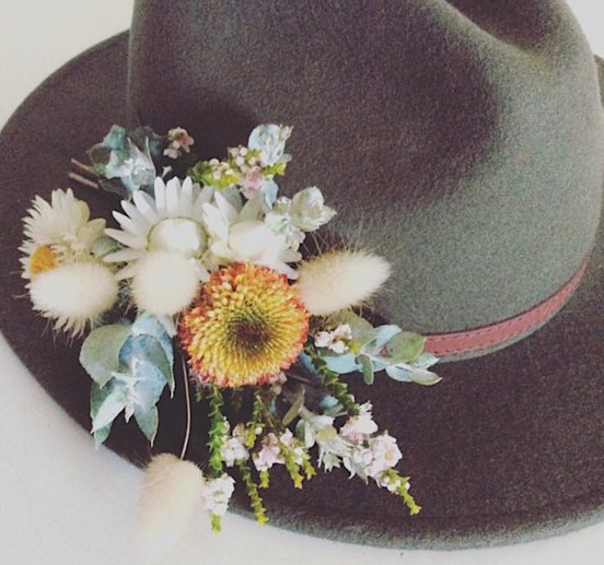 Festival Hat Flowers a small spray of fresh flowers to add to your own hat - A Touch of class Florist Perth