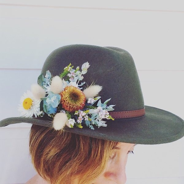 Festival Hat Flowers a small spray of fresh flowers to attach to your own hat - A Touch of Class Florist Perth