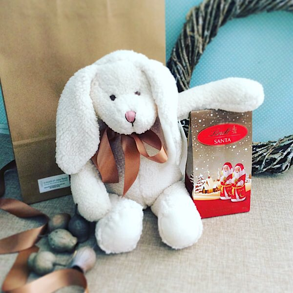 Festive Hugs is a cute combination of Nana Huchy's Bella bunny soft toy and some Festive Chocolates