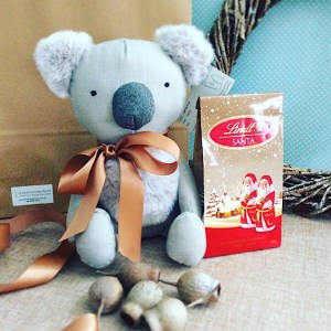Aussie Festive Hugs is a cute combination of Keith the Koala soft toy and some festive chocolates - A Touch of Class Florist Perth