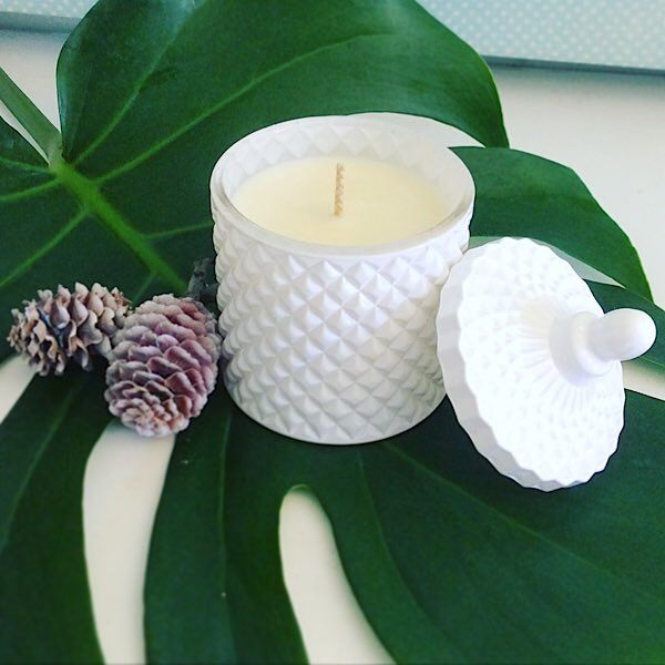 Bear and Finn Candle in Christmas Pudding or Christmas Day. Festive Scented hand poured soy candles by Bear and Finn - A Touch of class Florist Perth