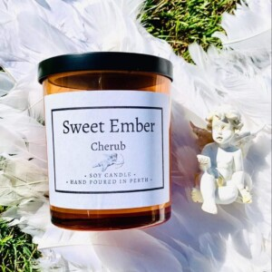 Sweet Ember Scented Soy Candle - Cherub
