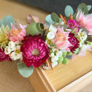 Wildflower Fresh Flower Crown From A Touch of Class Florist Perth