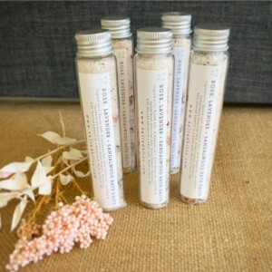 Bath Salts in Test Tube by Salted Bliss in Rose, Lavender and Sandalwood